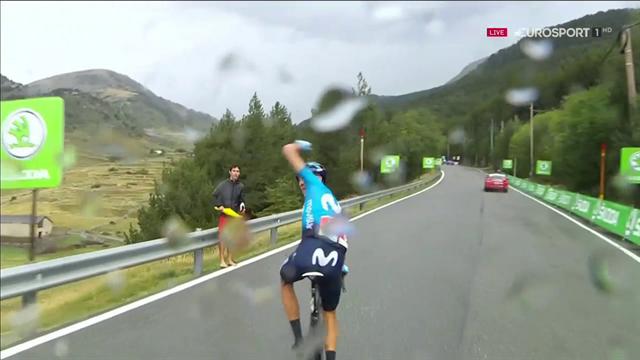 Vuelta a España 2019: Tremendo enfado de Marc Soler al obligarle el Movistar a esperar a Quintana