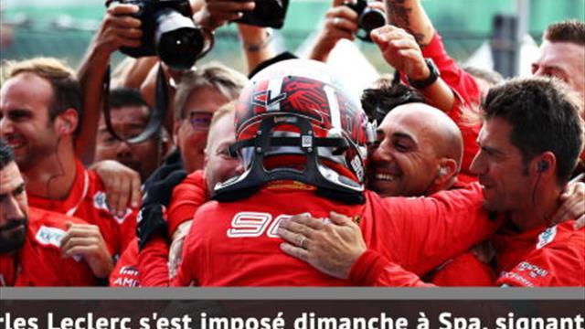 GP de Belgique - Leclerc, première !