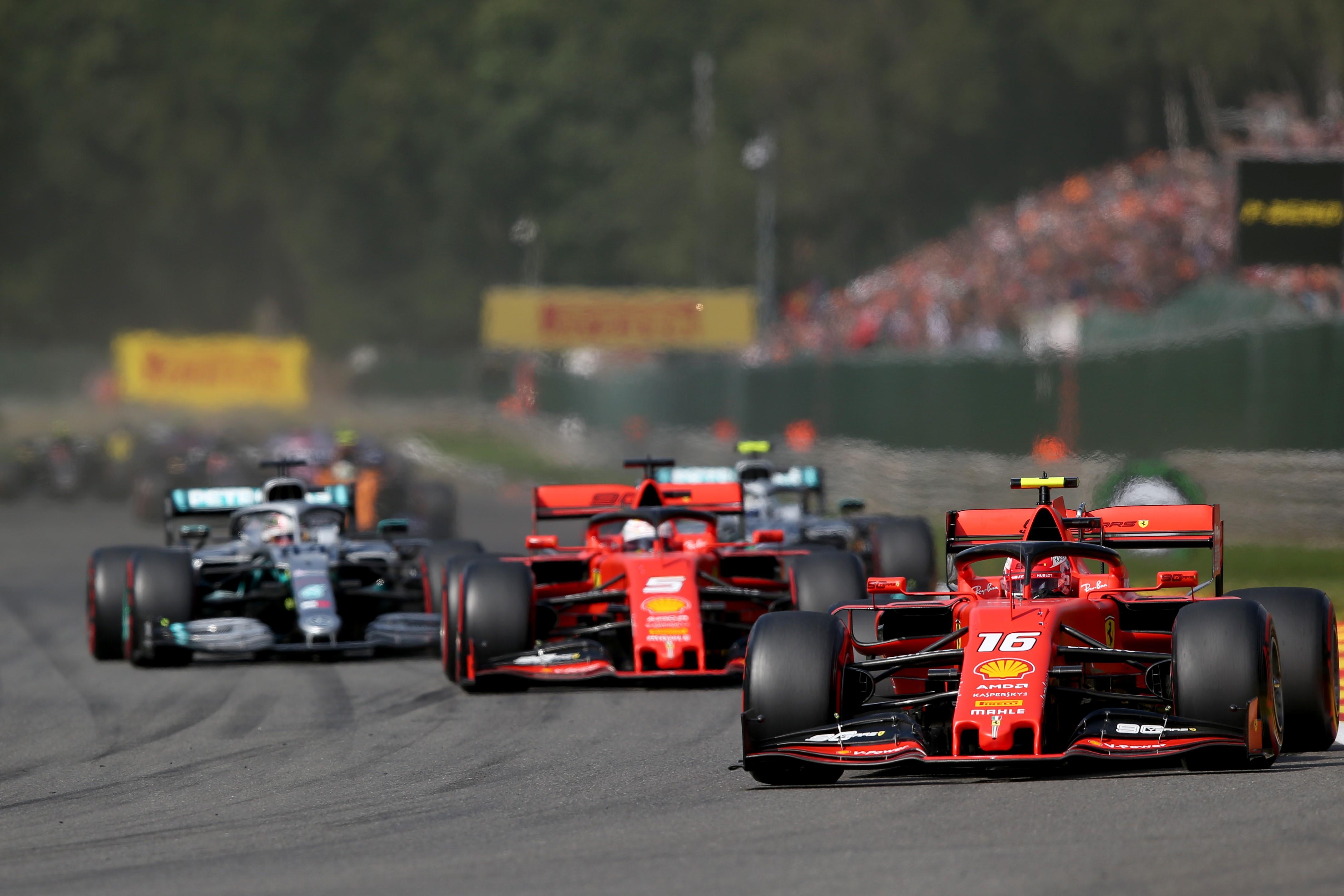 Charles Leclerc, Sebastian Vettel (Ferrari) - 2019 Belçika GP