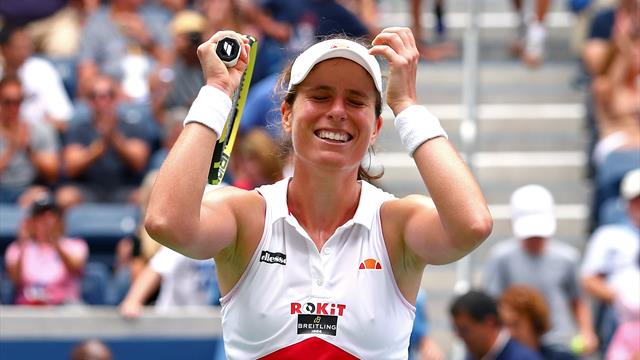 Konta edges past Pliskova to reach first US Open quarter-final