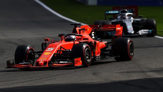 Sebastian Vettel precede di un soffio Verstappen e Leclerc, Hamilton sesto a 3 decimi