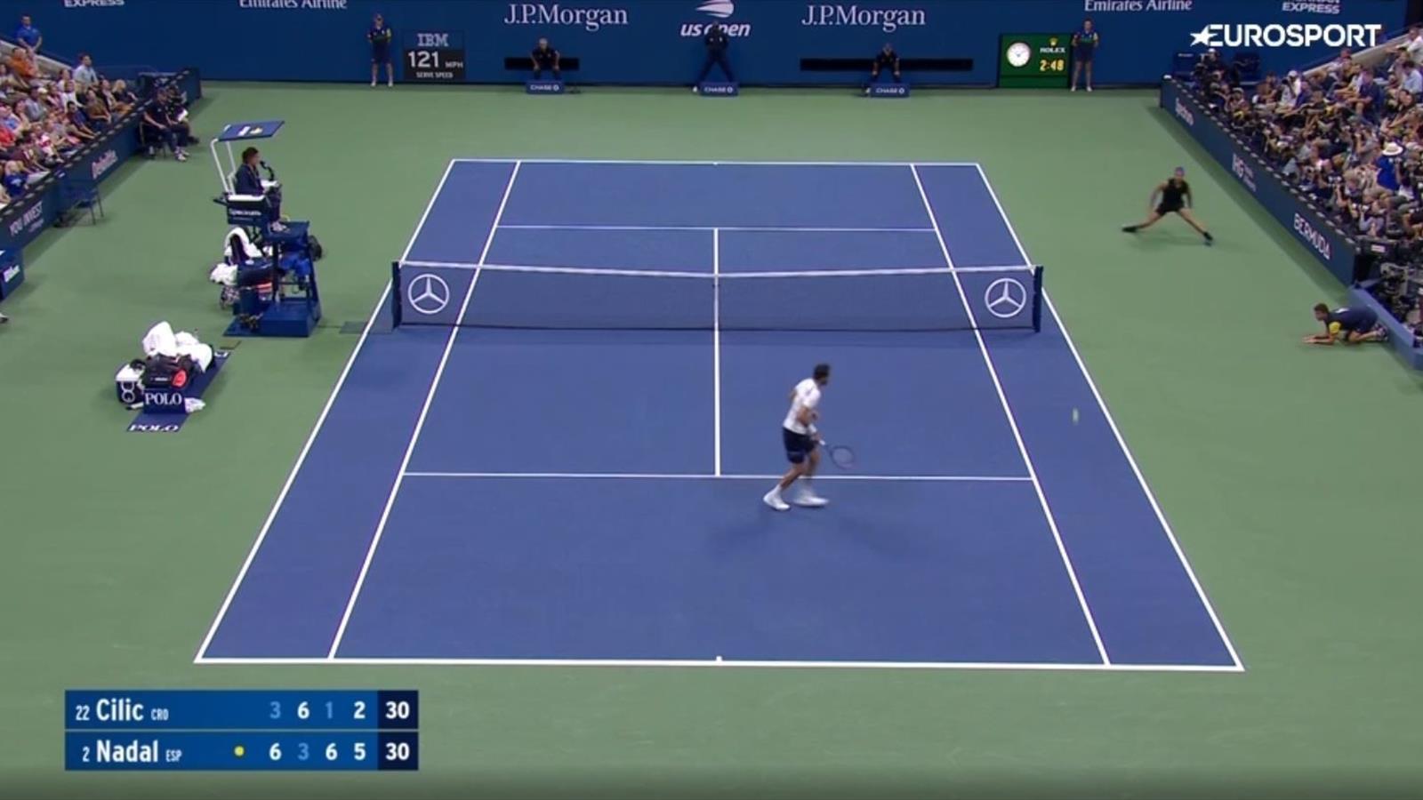 Крутой розыгрыш от Рафаэля Надаля (видео) - US Open - Eurosport.ru