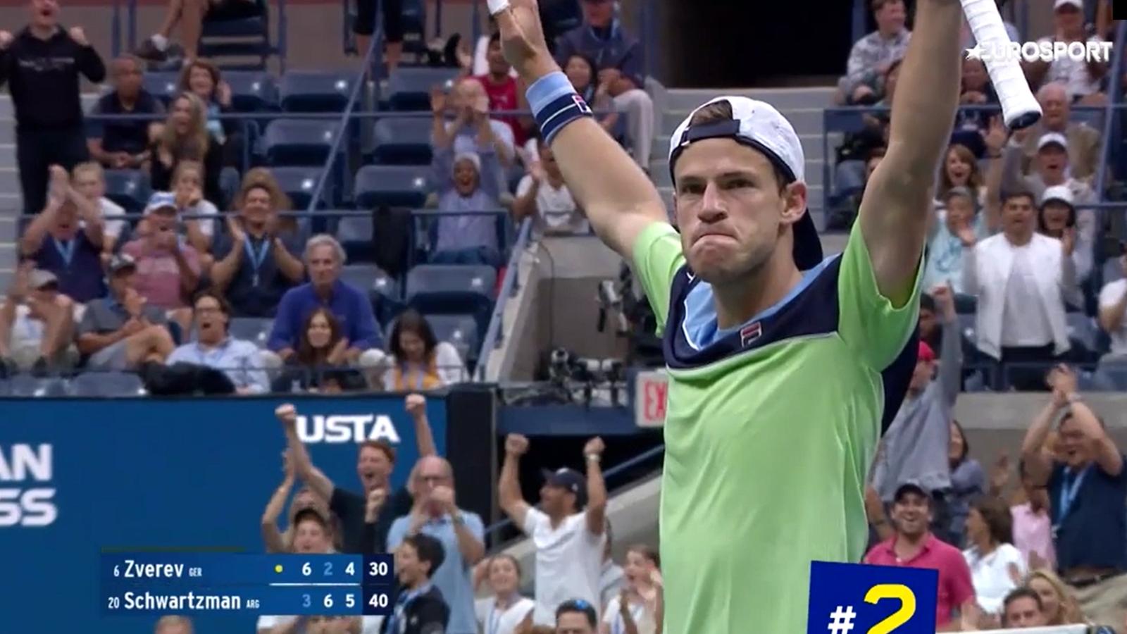 Топ-5 ударов восьмого дня US Open (видео) – Надаль, Шварцман, Монфис - US Open - Eurosport.ru