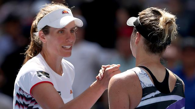 Konta's US Open run ended by sublime Svitolina