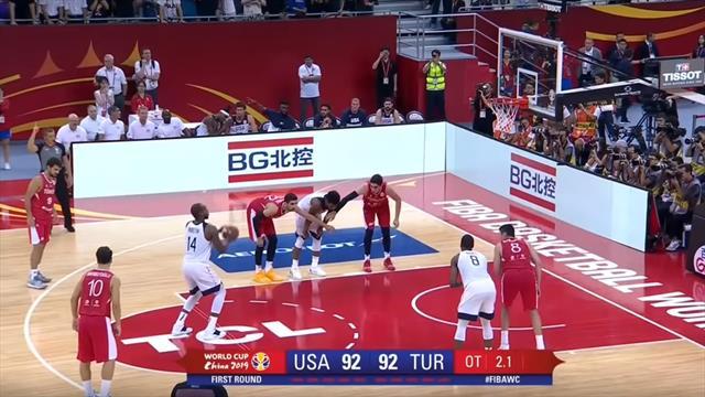 Team USA-Turchia 93-92: gli highlights della vittoria col brivido in overtime