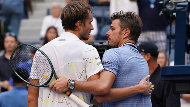 Medvedev sees off Wawrinka to reach maiden Grand Slam semi-final