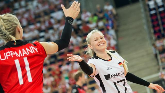 Aggressiv und voller Selbstvertrauen: Volleyballerinnen feiern EM-Gruppensieg