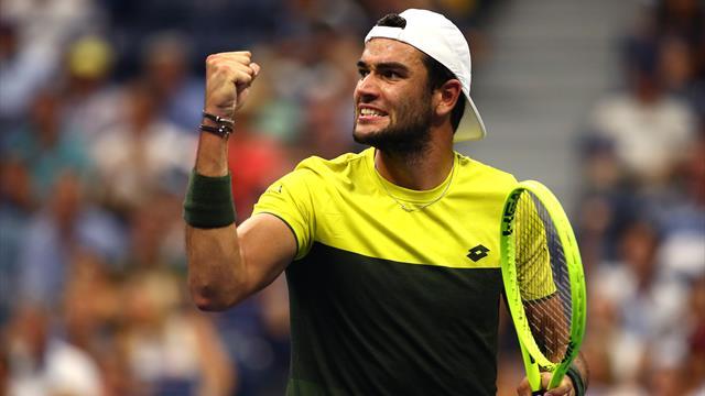 Berrettini outlasts Monfils in five-set rollercoaster to reach first Grand Slam semi
