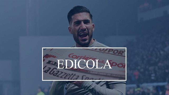Edicola: Juventus, nervi tesi Sarri-Paratici. Emre Can al PSG a gennaio?