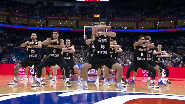 New Zealand do the haka at the Basketball World Cup