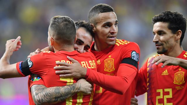 Spain stay perfect with win over Romania