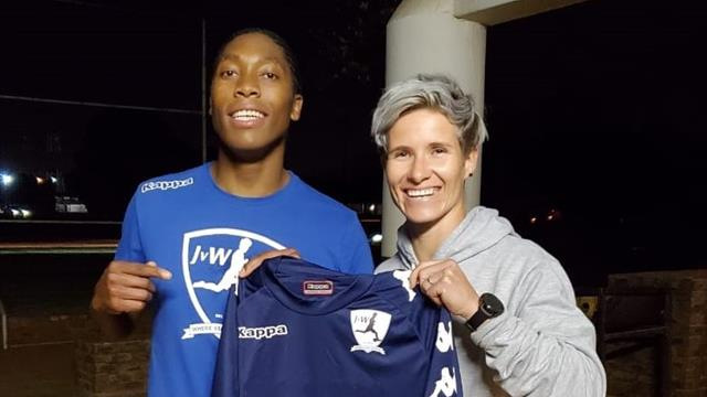 Semenya joins football team in 'new journey'