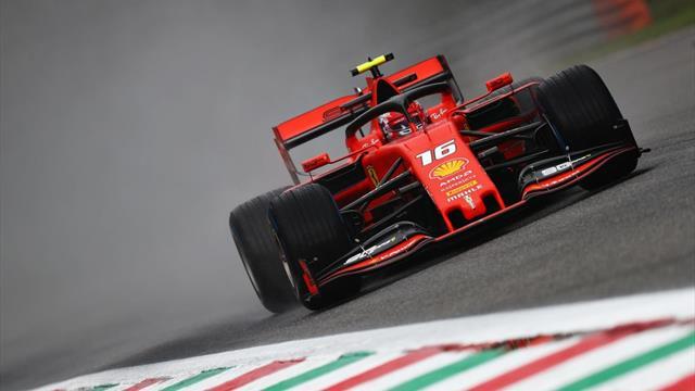 Leclerc vola sotto la pioggia e fa sognare la Ferrari: suo il miglior tempo dopo le libere 1