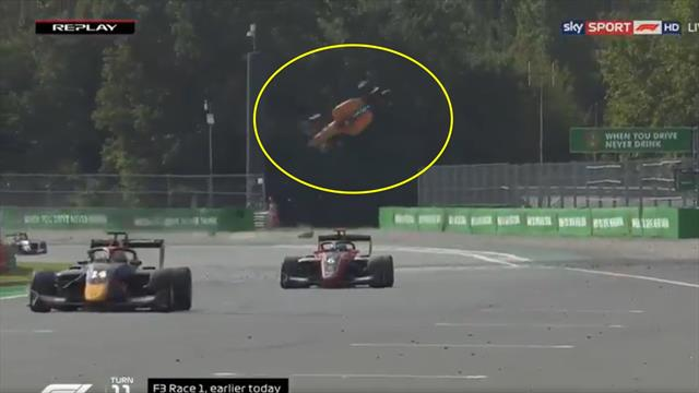 F3, paura a Monza: incidente per Alex Peroni