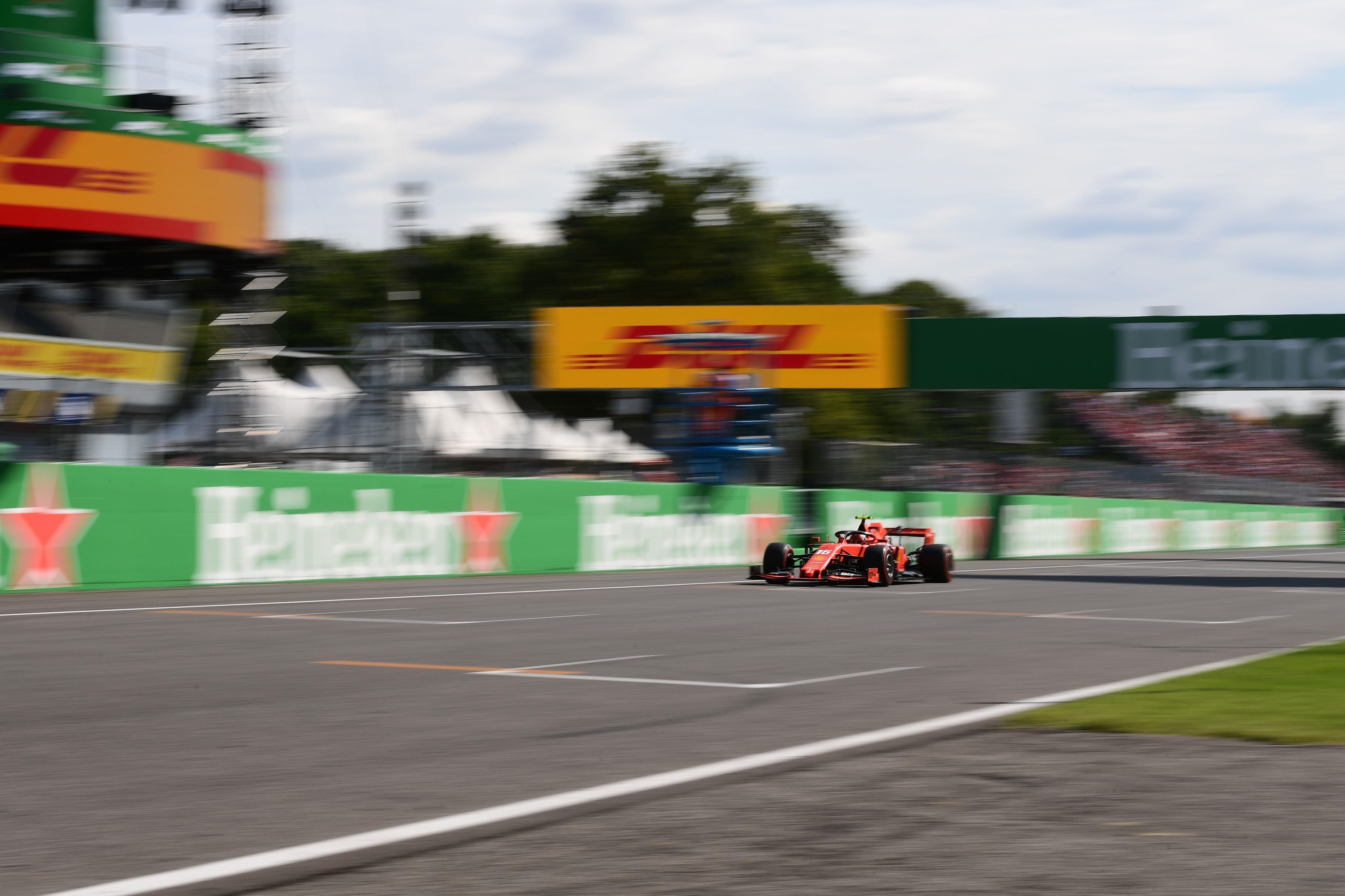 Charles Leclerc (Ferrari) au Grand Prix d'Italie 2019