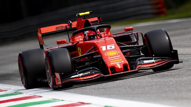 Charles Leclerc on pole for Italian GP as stewards investigate ending