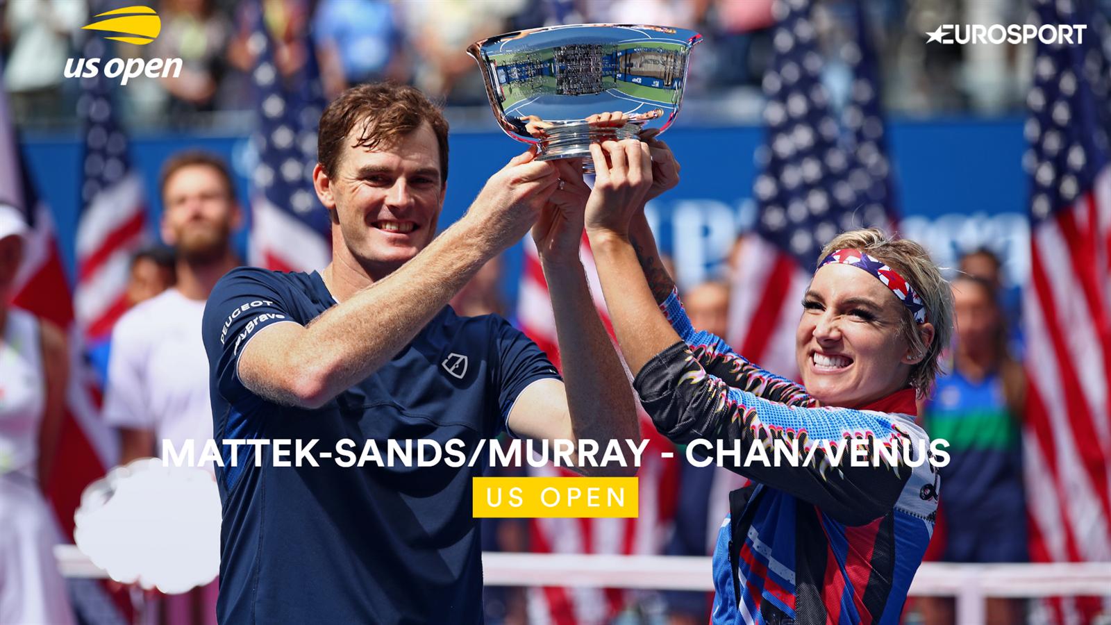 Samenvatting finale US Open mixed dubbel: Winst in voor Murray/Mattek-Sands