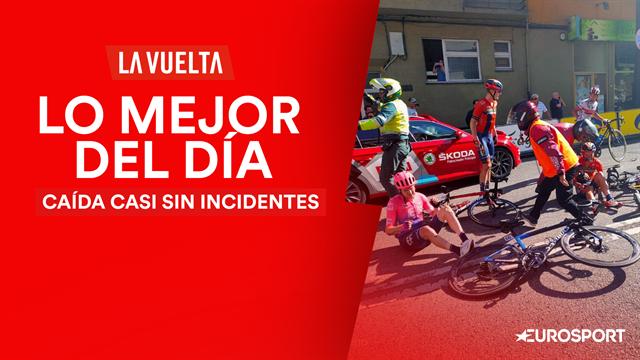 Vuelta a España 2019, lo mejor del día (14ª etapa): El nerviosismo se apoderó del pelotón y lo pagó