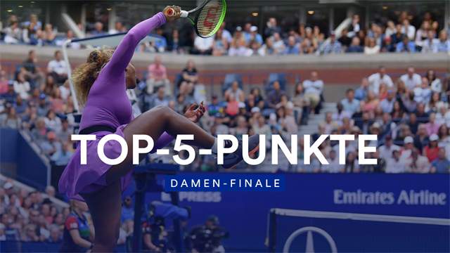 Power-Volley von Serena überwältigt Andreescu
