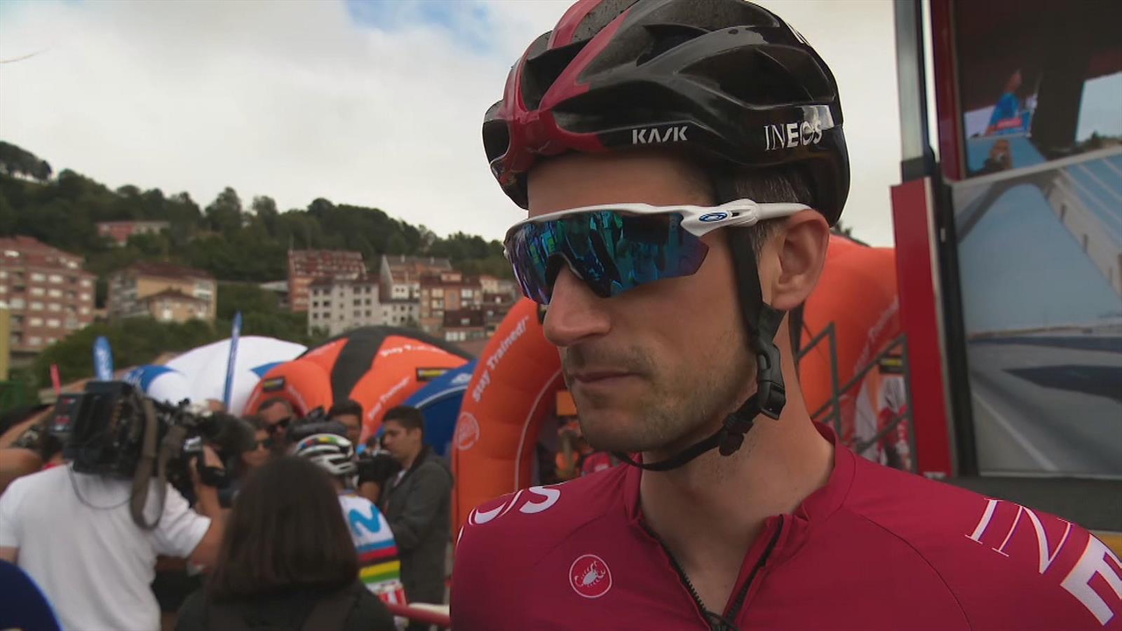 Wout Poels over lastige etappe 15 Vuelta a Espana: 'Ligt me goed'