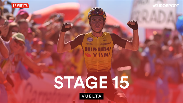 Catch up with highlights from Stage 15