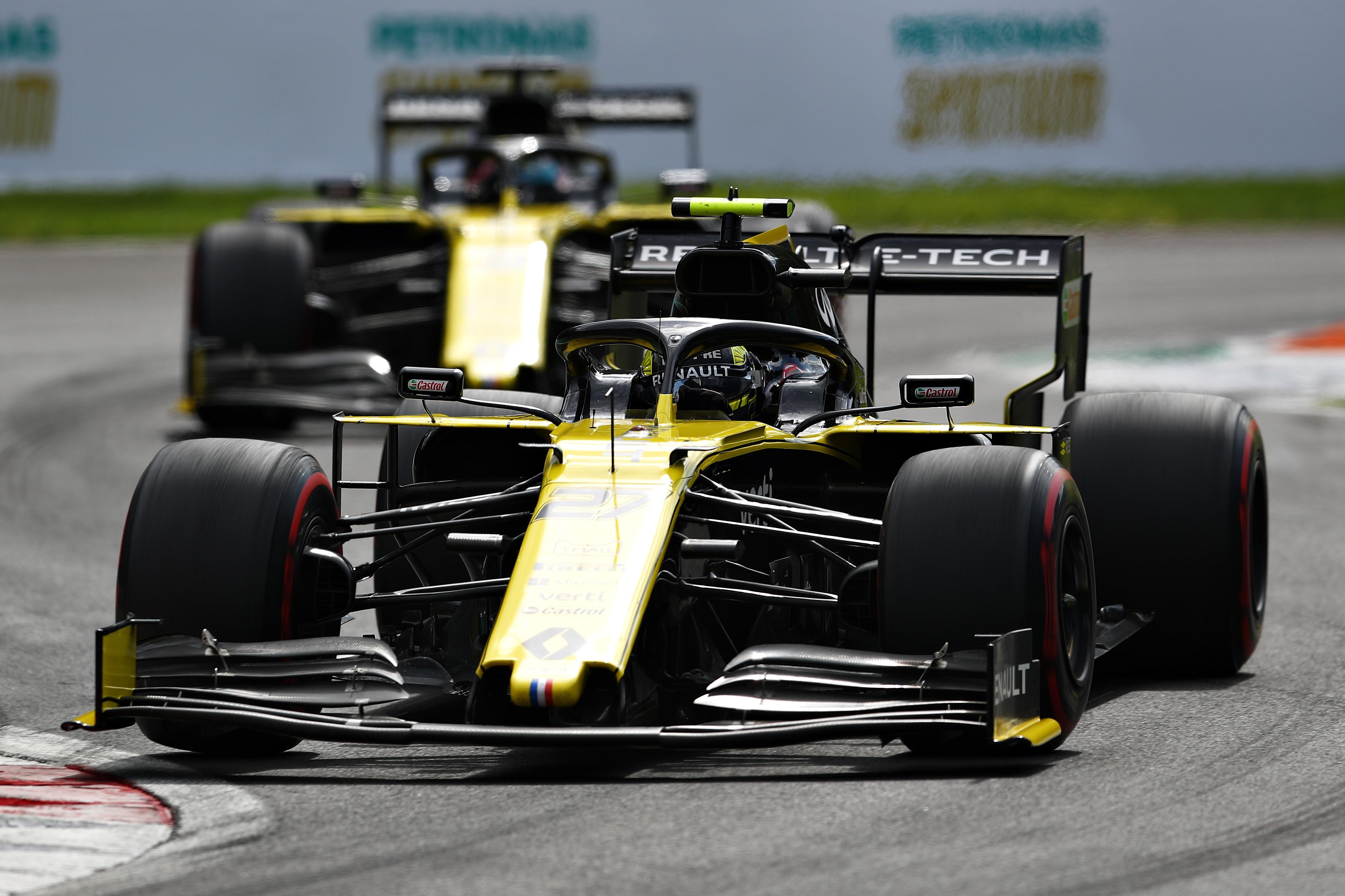 Nico Hülkenberg et Daniel Ricciardo (Renault) au Grand Prix d'Italie 2019