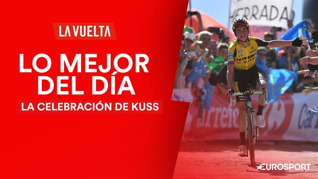 Vuelta a España 2019 (15ª etapa), lo mejor del día: La gran celebración de Sepp Kuss