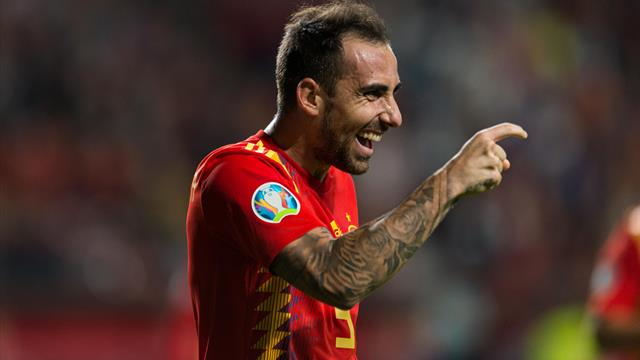 Rodrigo and Alcacer braces give Spain comfortable win