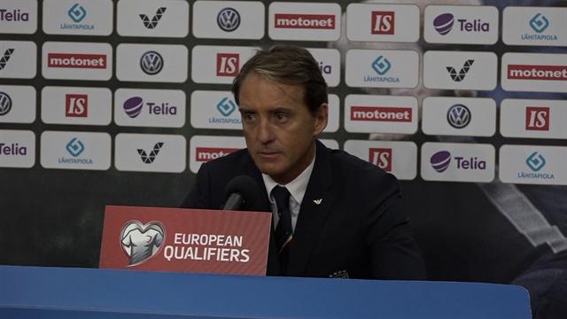 """Mancini: """"Altra ottima prestazione contro la Finlandia, il 2-1 ci sta anche stretto"""""""
