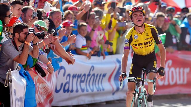 Kuss soloes to Stage 15 glory as teammate Roglic strengthens lead