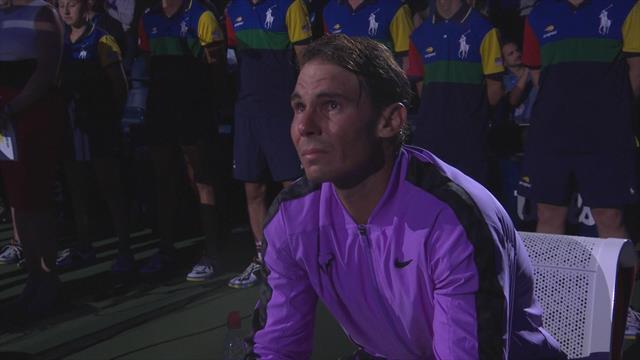 Quand Nadal craque et fond en larmes sur sa chaise après avoir vaincu Medvedev