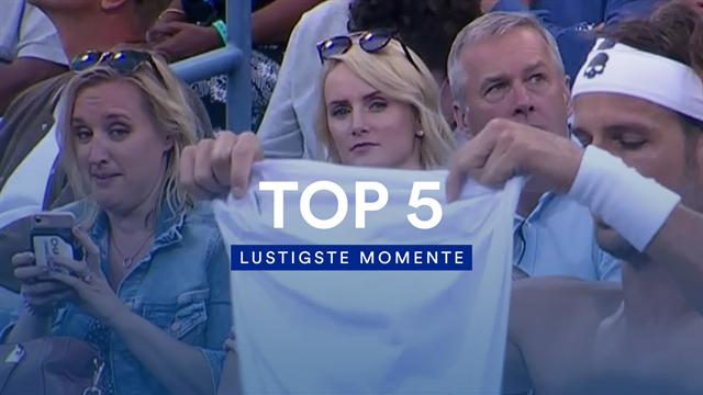 Wenn ein Blick alles sagt: Die lustigsten Momente der US Open 2019