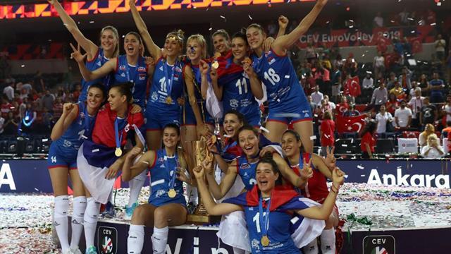 Euro Volley 2019 : la Serbie bat la Turquie et conserve son titre de champion d'Europe