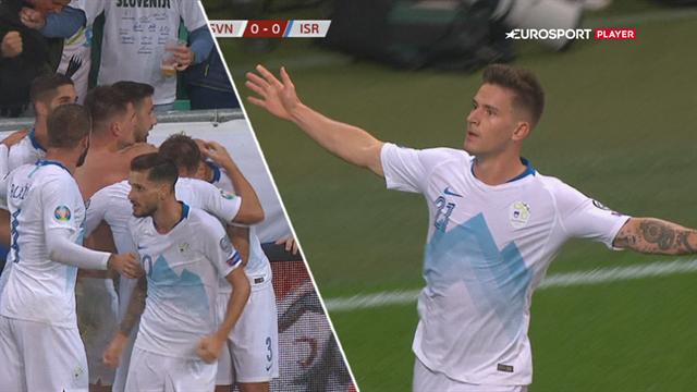 Highlights: Verbič blev overtidshelt, da Slovenien tog alle tre point mod Israel