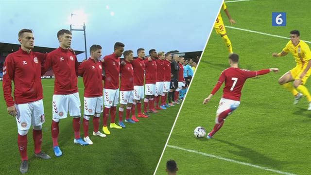 Highlights: Suveræne Skov Olsen og sen straffe-redning sikrede de danske U-21-drenge alle tre point