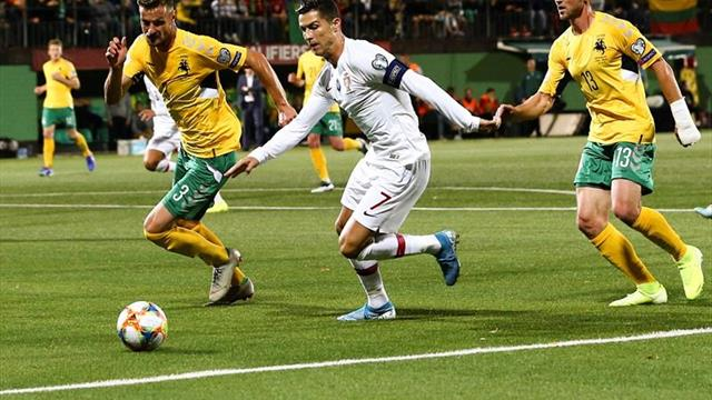 Inglaterra despierta a Kosovo; Cristiano golea a Lituania