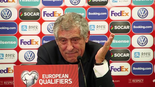 """Fernando Santos: """"Ronaldo è il migliore del mondo. Non c'è stadio in cui non venga applaudito"""""""