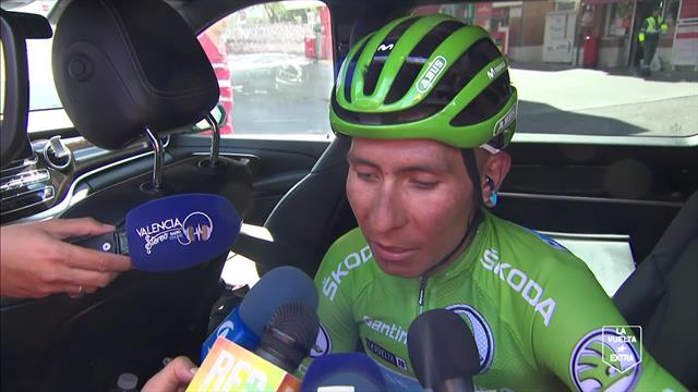 """Quintana: """"Non era una tappa adatta a me, ma ho dato tutto. Vincere la Vuelta? Vediamo il recupero"""""""