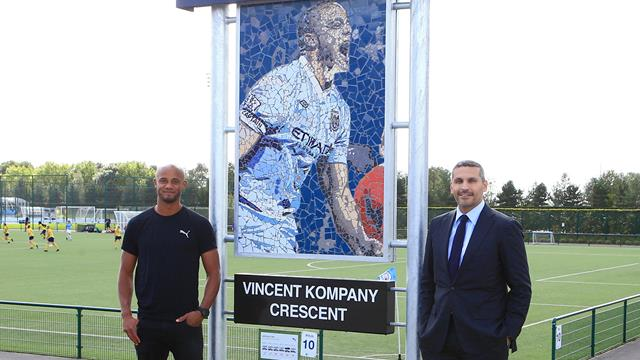 City honour Kompany with sculpture and named road
