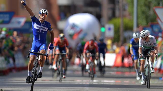 Gilbert wins dramatic Stage 17 as crosswinds blow La Vuelta wide open