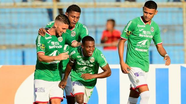 Marathón golea al Real Sociedad y sigue líder del torneo Apertura de fútbol en Honduras