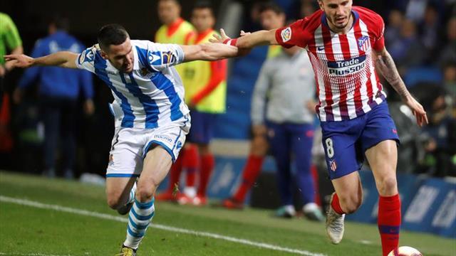 El líder Atlético expone su pleno en el nuevo Anoeta