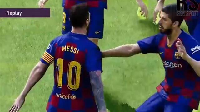 В PES 2020 Месси празднует голы в стиле Роналду