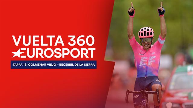 """""""Vuelta 360"""", tappa 18: la sintesi della giornata caliente, nella prima volta di Sergio Higuita"""