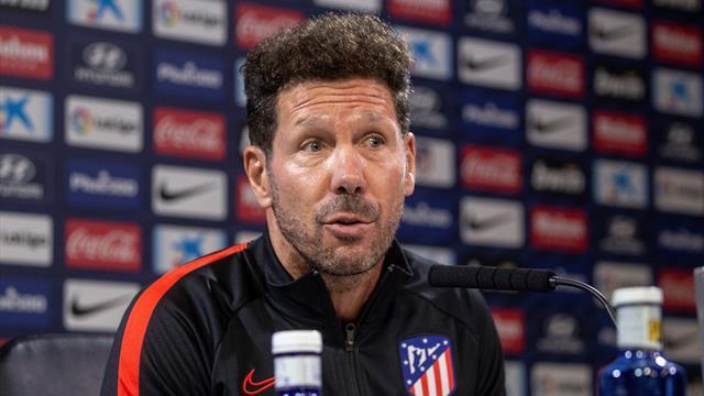 "Simeone, tajante: ""Ni falta ni sobra ningún jugador en mi plantilla"""