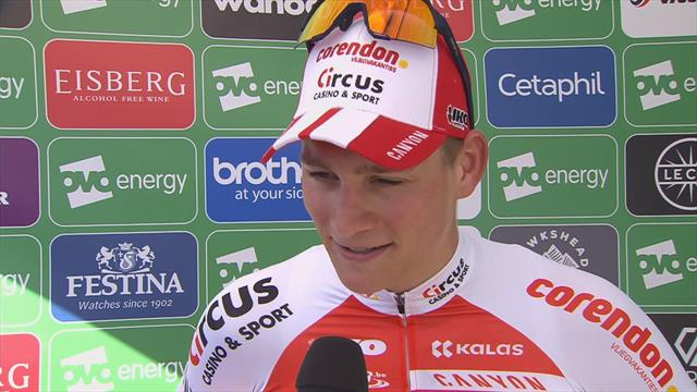 Van der Poel delighted after 'really good day'