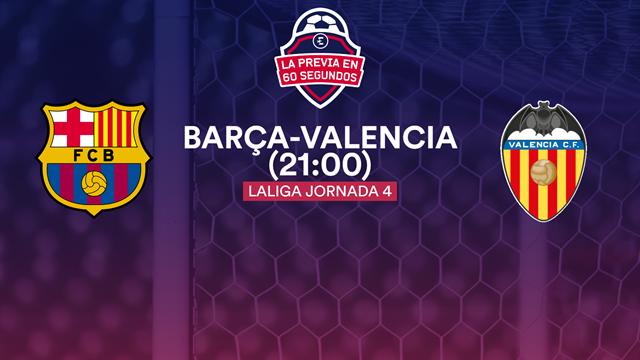 La previa en 60'' del Barça-Valencia: A dejar atrás la mala racha (21:00)