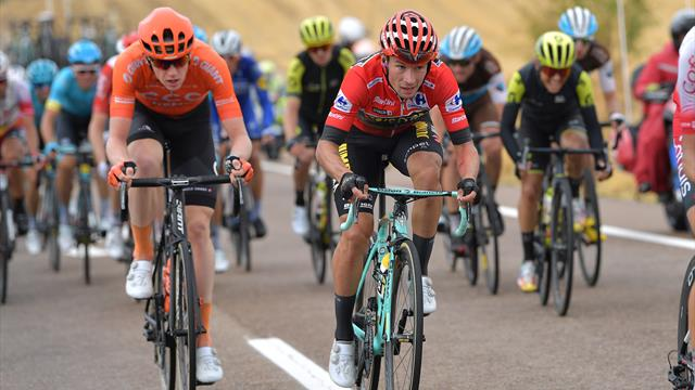 Cadute, ventagli, attacchi a Roglic e la poca etica di Valverde: a Toledo vince Cavagna