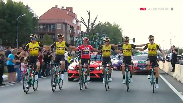 'Lovely moment' - Roglic and Jumbo-Visma celebrate Vuelta win