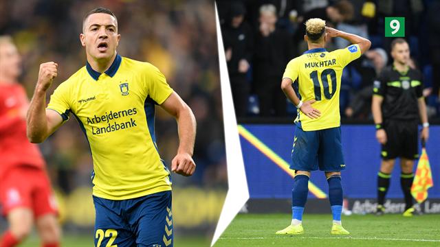 Highlights: Brøndby lyste op i offensivt seks-måls-bombardement mod FCN